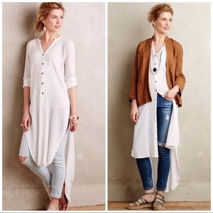 Anthropologie | Button Down Gauze Tunic